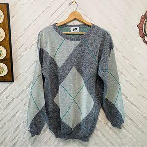 Vintage 1980s Argyle Sweater